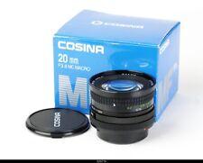Lens Cosina 3,8/20mm MC Macro for Canon FD Mint Box