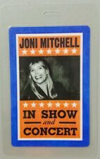 JONI MITCHELL LAMINATED BACKSTAGE PASS   IN SHOW AND CONCERT