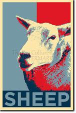 Ovejas Arte Foto Print (Obama esperanza) Cartel De Regalo De Amante de los animales Cordero