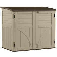 Resin Horizontal Storage Organization Shed All Weather Durable Easy Assembly