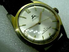 "Very nice ""BITUNIA 21 M.A.M."" gents dress watch 1970, wind up, working well."