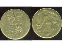 TCHECOSLOVAQUIE  1 koruna  1991   ( bis )