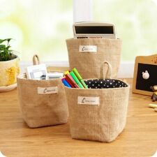 Cotton Storage Basket Mini Home Container Hanging Sundries Box Foldable Holder