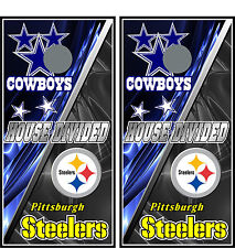 cowboys & steelers 0153 Custom Cornhole board game decal wraps bean bag