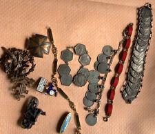Bracelets Badges Brooches Job Lot Vintage