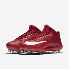 Nike Force Zoom Trout 3 Metal Baseball Cleat 856503 667 Red White Mid