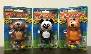 Lot: 3 Treat Street Zoo Pooper, Wind-Up Walking Candy Dispensers 2013, Mint