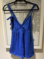Electric Blue Abercrombie And Fitch Camisole Size Large Womens Top Shirt Summer