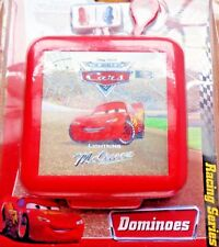 Disney Cars Dominoes Mini Game :  Lightning Ms Queen, Red Case, Clip & Go New.