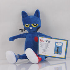 14'' Merrymakers Pete the Cat Plush Doll Blue Stuffed Animal Collection Kid Toys