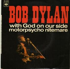 BOB DYLAN WITH GOD ON OUR SIDE / MOTORPSYCHO NITEMARE FRENCH ORIG EP 45 PS 7""