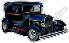 "Blue Ford Hotrod Hot Rod Vehicle Classic Car Bumper Vinyl Sticker Decal 5""X4"""