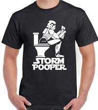 Storm Pooper - Mens Funny T-Shirt Storm Trooper Star Wars Darth Vader Jedi Yoda