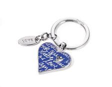 """TROIKA, """"LOVELY HEART"""", Schlüsselanhänger Herz, blau, Metallguss/Emaille"""