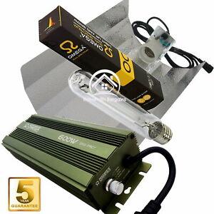 600w Grow Light Kit OMEGA PRO Dimmable Digital Ballast, HPS Dual Spectrum Bulb