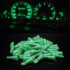 10pcs COB LED T5 Plastic Base Wedge Lights Flood Bulbs Green Dashboard Lamps