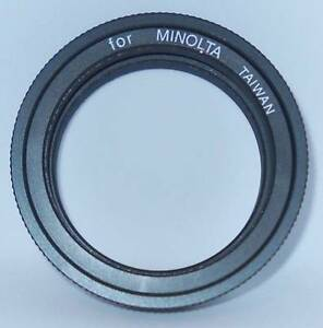 VINTAGE MINOLTA T-RING FOR 35mm CAMERA.  NO BOX.