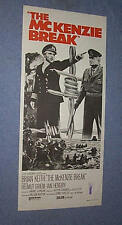Original MCKENZIE BREAK daybill insert VF Brian Keith Helmut Griem