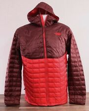 The North Face Men's XL Thermoball Full Zip Jacket Puffer Red Hoodie Coat NWT