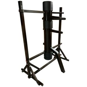 Wing Chun Wooden Dummy with Frame, Arms & Leg - Chestnut Colour