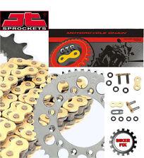 FITS Honda GB500 TT, K Clubman 89-90 Gold Heavy Duty X-Ring Chain Sprocket Kit