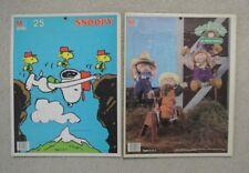 Lot 2 Vintage Milton Bradley 25 Piece Puzzles - Snoopy & Cabbage Patch Kids