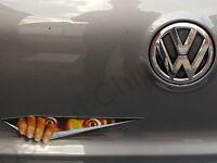 Devil Demon Peeking Monster Car Sticker Decal Badge Funny VW T4 T5 Transporter