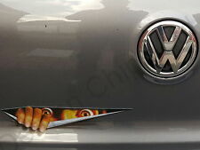 Diable DEMON peeking Monster Autocollant Voiture Badge décal. Drôle Cool VW AMAROK BEETLE