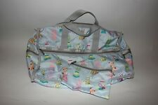 LeSportsac Large Weekender Duffle Bag Fashion Design Dresses w/ Small Zip Pouch
