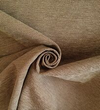 12 Metres Laura Ashley Tweed Weave Curtain & Upholstery Backed Fabric In Biscuit