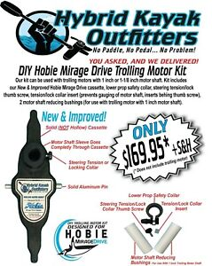 DIY Hobie Mirage Drive Kayak Trolling Motor Mount Cassette Kit (Without Motor)