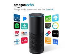 Amazon Echo Black hands-free speaker Alexa Voice service control media streaming