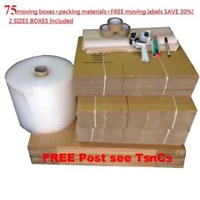 Completed Pack MOVING BOXES  PACKING MATERIALS CARDBOARD REMOVALIST PICK UP ONLY
