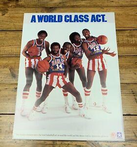 Original 1984 Converse Shoes Harlem Globetrotters Promotional Poster NOS 17x23