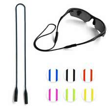 Silicone Glasses Strap Cord Neck Holder Lanyard Sports Sunglasses Rope 53cm EB