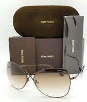 New Tom Ford Colette sunglasses TF0250 48F 63mm Brown Gradient AUTHENTIC Aviator