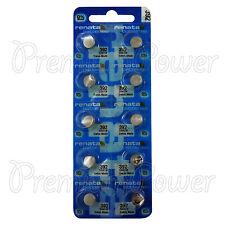 10 x Renata 392 Silver oxide batteries 1.55V SR41SW SR41 384 Watch 0% Mercury