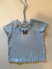 Diggy Bop Blue Top For Girl/toddler. Sz 4T. Cute Tie in Back & Embroidery Front