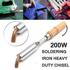 220 V AC 200 W fer à souder Heavy Duty Ciseau cuivre point astuce en bois poignée outil
