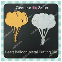 Metal Cutting Die - HEART BALLOONS - LOVE -  Happy Birthday - Crafting