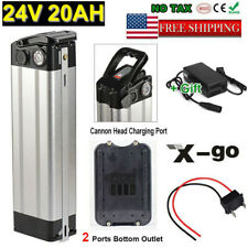 24V 20Ah Silver Fish Li-ion E-Bike Battery For 250W Motor Eletric Bike + Charger
