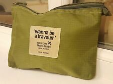 New 2018 Olive Green Travel Series MakeUp Cosmetic Bag Travel Toiletry Organiser