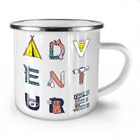 Adventure NEW Enamel Tea Mug 10 oz | Wellcoda