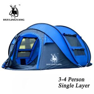 3 - 6 Person Instant Pop Up Hiking Camping Family Waterproof Family Backpacking