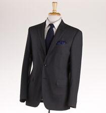 NWT $1695 BOGLIOLI 'Covent' Green-Gray Fine Stripe Wool Suit Slim 40 R (Eu 50)