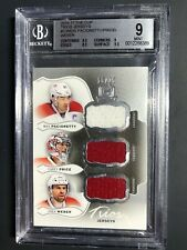 2016-17 The Cup Trios Jerseys Pacioretty Price Weber /25 Graded BGS 9 MINT