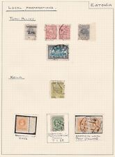 Estonia. Local Perforations/Roulettes. Other Areas. FOUR PAGES