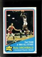 1972-73 TOPPS #169 NATE ARCHIBALD VGEX AS HOF  *XR18614