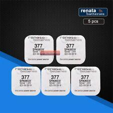 5 x Genuine Renata 377 Swiss watch batteries. Quality assured. FREE UK P&P