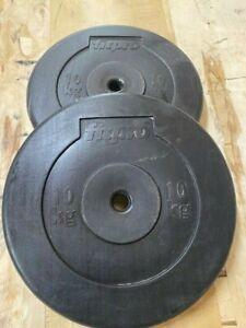 Fitpro Weight Plates PAIR 10kg x 2 (20kg total)